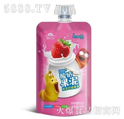 捷世冠酸奶果泥草莓味150克