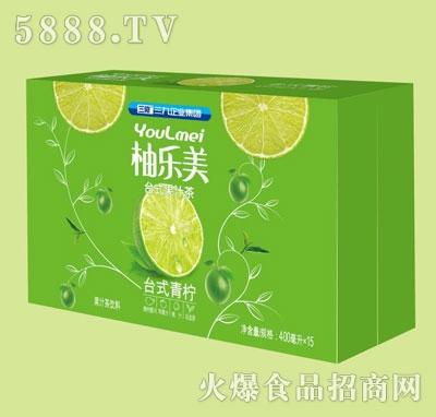 柚乐美果汁茶台式青柠味400mlX15