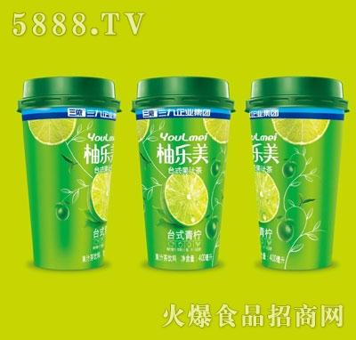 柚乐美果汁茶台式青柠味400ml