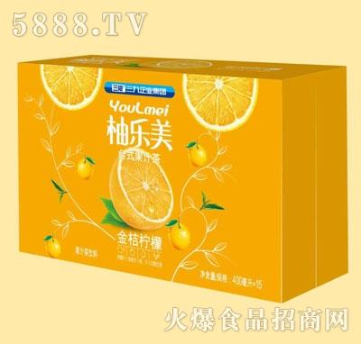柚乐美果汁茶金桔柠檬味400mlX15