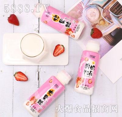 舒纯大果粒酸奶饮品草莓味(瓶子)