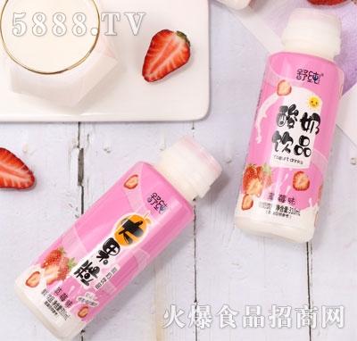 舒纯大果粒酸奶饮品草莓味310ml