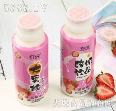 舒纯大果粒酸奶饮品草莓味310ml(瓶)