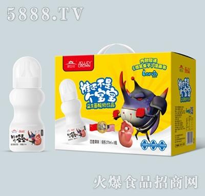 捷世冠益生菌酸奶饮品百香味270mlx8瓶