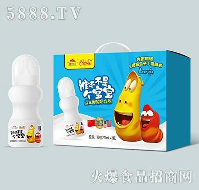 捷世冠益生菌酸奶饮品原味270mlx8瓶