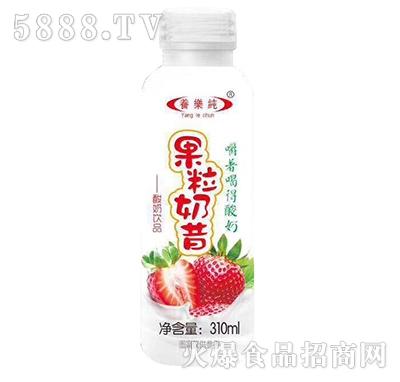 养乐纯果粒奶昔酸奶饮品草莓味310ml