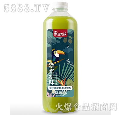 果园大叔益生菌复合猕猴桃汁1.5L瓶