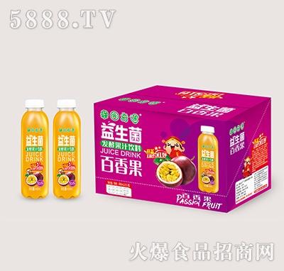 果园奇遇益生菌发酵百香果汁488mlx15瓶