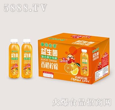果园奇遇益生菌发酵果汁香橙柠檬味488mlx15瓶