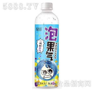 轻田泡果气蓝莓果味汽水500ml