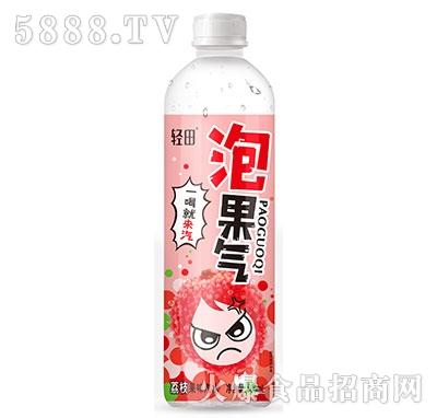 轻田泡果气荔枝果味汽水500ml