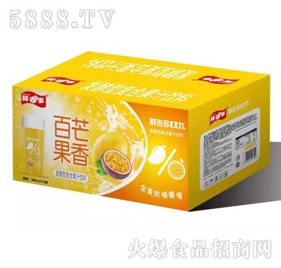 鲜吉多百芒果香发酵复合饮料380mlX15