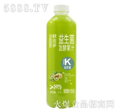 鲜吉多益生菌发酵果汁奇异果味1.1L