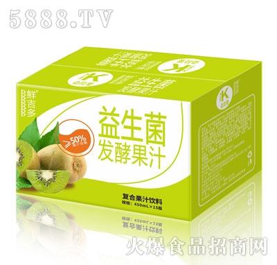 鲜吉多益生菌发酵果汁奇异果味450mlX15