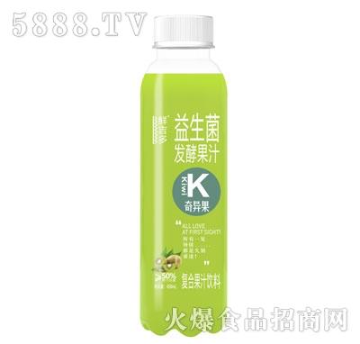鲜吉多益生菌发酵果汁奇异果味450ml