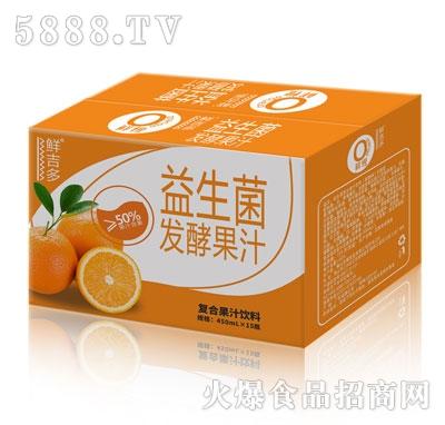 鲜吉多益生菌发酵果汁鲜橙味450mlX15