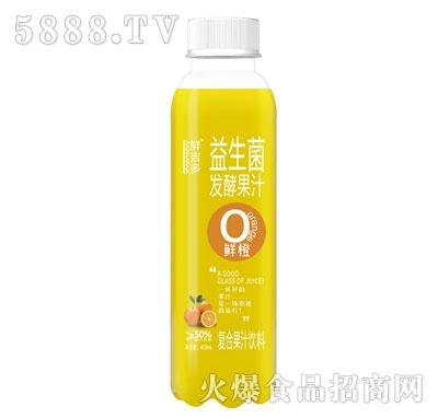 鲜吉多益生菌发酵果汁鲜橙味450ml