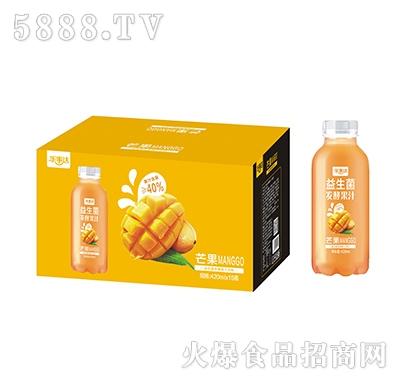 乐事达益生菌发酵芒果果汁420ml×15瓶