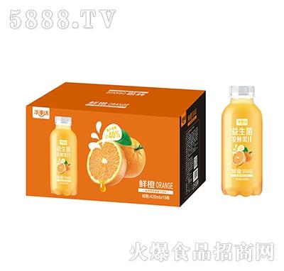 乐事达益生菌发酵鲜橙汁420ml×15瓶