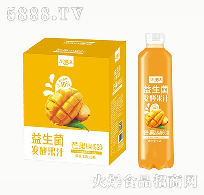 乐事达益生菌发酵芒果果汁1.2L×6瓶