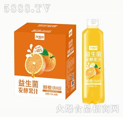 乐事达益生菌发酵鲜橙果汁1.2L×6瓶