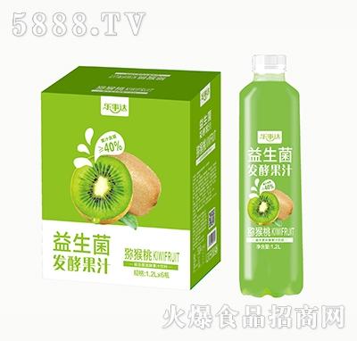 乐事达益生菌发酵猕猴桃果汁1.2L×6瓶