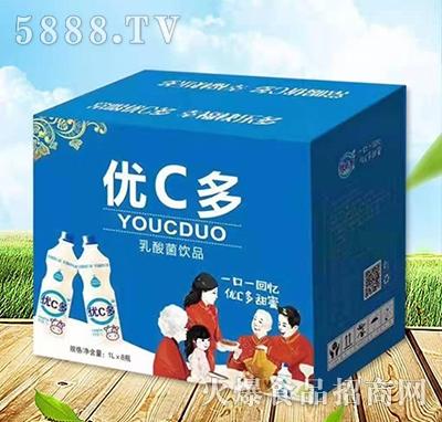 优C多乳酸菌饮料原味1Lx8瓶