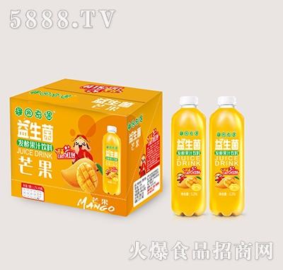 果园奇遇益生菌发酵芒果果汁饮料1.25Lx6瓶