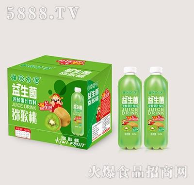 果园奇遇益生菌发酵猕猴桃果汁饮料1.25Lx6瓶