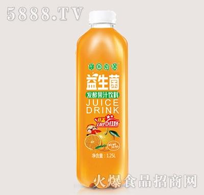果园奇遇益生菌发酵香橙果汁饮料1.25L
