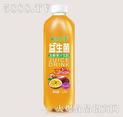 果园奇遇益生菌发酵百香果果汁饮料1.25L