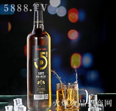 淼雨五道彩苹果汁醋饮料680ml黑瓶装