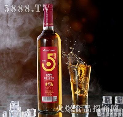 淼雨五道彩苹果汁醋饮料680ml红瓶装