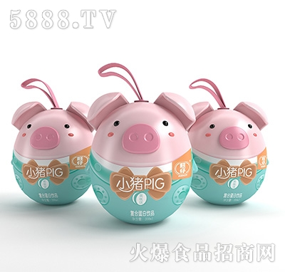 旺仔小猪PIG复合蛋白饮料黄桃味200ml