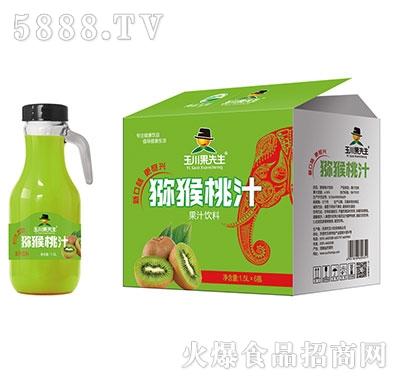 1.5L×6果先生手柄猕猴桃汁饮料产品图