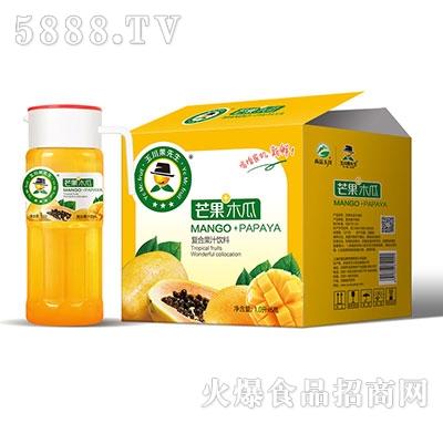 1L×6果先生塑料盖芒果木瓜汁饮料
