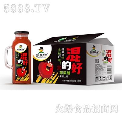 988ml×6果先生手柄方杯苹果醋饮料产品图