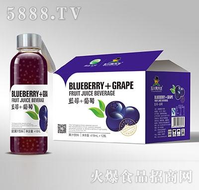 418ml×12玉川果先生水杯蓝莓葡萄汁饮料