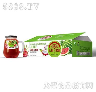330ml×12玉川果园西瓜火龙果复合果汁饮料