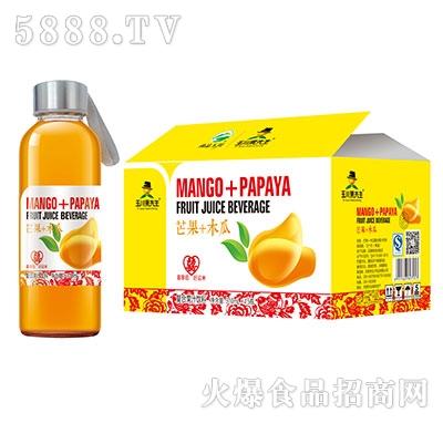 310ml×15玉川果先生水杯芒果木瓜汁饮料