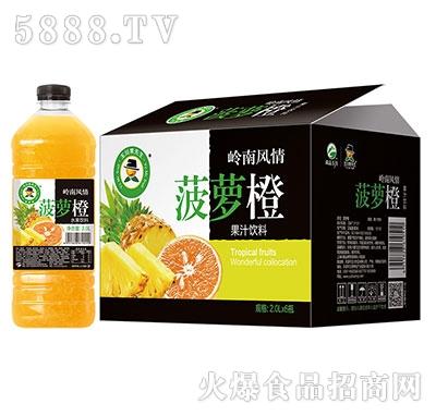 2L×6玉川果先生菠萝橙水果饮料
