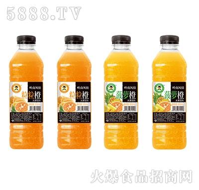600ml×15玉川果先生粒粒橙、菠萝橙水果饮料