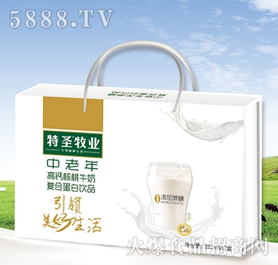 特圣牧�I中老年高�}核桃牛奶250mlx12盒