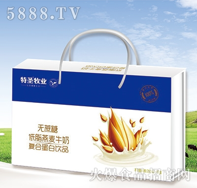 特圣牧�I�o蔗糖低脂燕��牛奶�料250mlx12盒