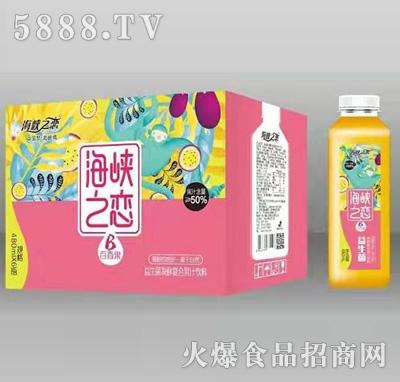 海峡之恋百香果益生菌发酵复合果汁饮料480mlx6瓶