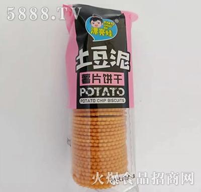 漂亮娃土豆泥薯片饼干韩式烤肉味