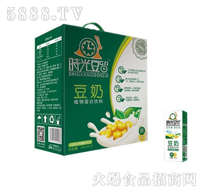时光豆留豆奶植物蛋白饮品200mlx12盒