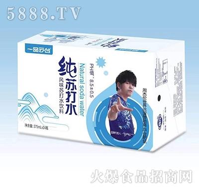 一品云台纯苏打水风味苏打水饮料375ml×24瓶