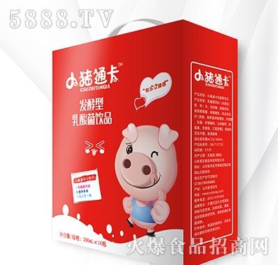 小猪通卡发酵型乳酸菌饮品200mlx16瓶大红礼盒