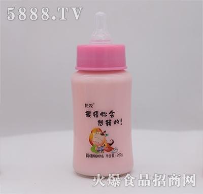 甄秀草莓味发酵酸奶饮品奶嘴260g